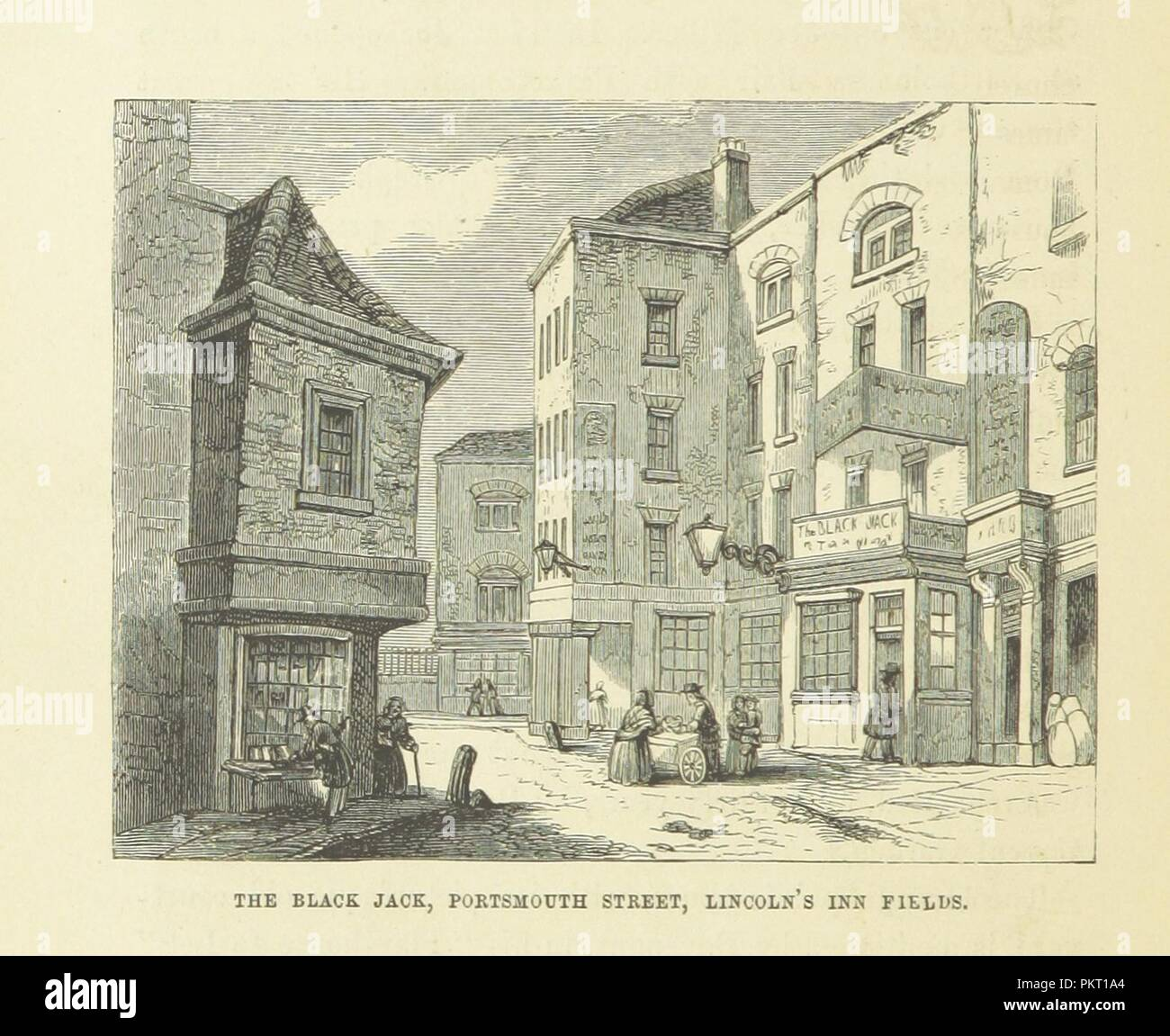 """Imagen de la página 496 de """"Haunted London . Ilustrado por F. W. Fairholt' . Imagen De Stock"""