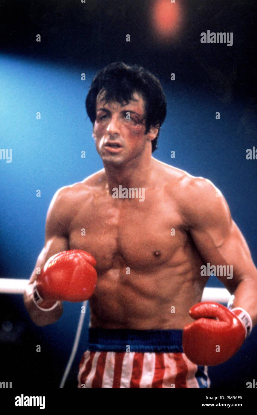 Studio publicidad todavía de 'Rocky IV' Sylvester Stallone © 1985 MGM/UA Todos Los Derechos Reservados Archivo de referencia # 31703102THA sólo para uso editorial Foto de stock