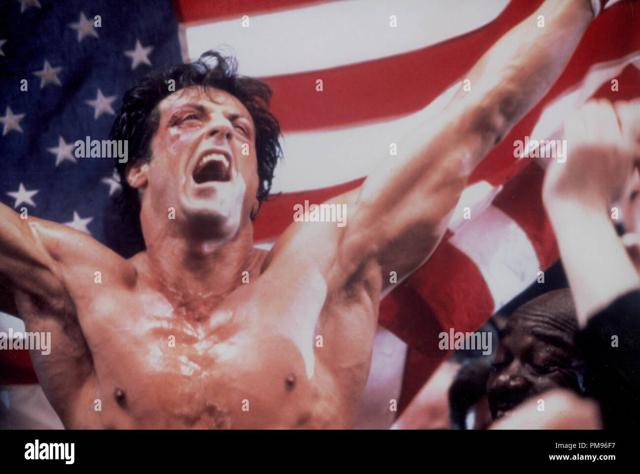 Studio publicidad todavía de 'Rocky IV' Sylvester Stallone © 1985 MGM/UA Todos Los Derechos Reservados Archivo de referencia # 31703103THA sólo para uso editorial Foto de stock