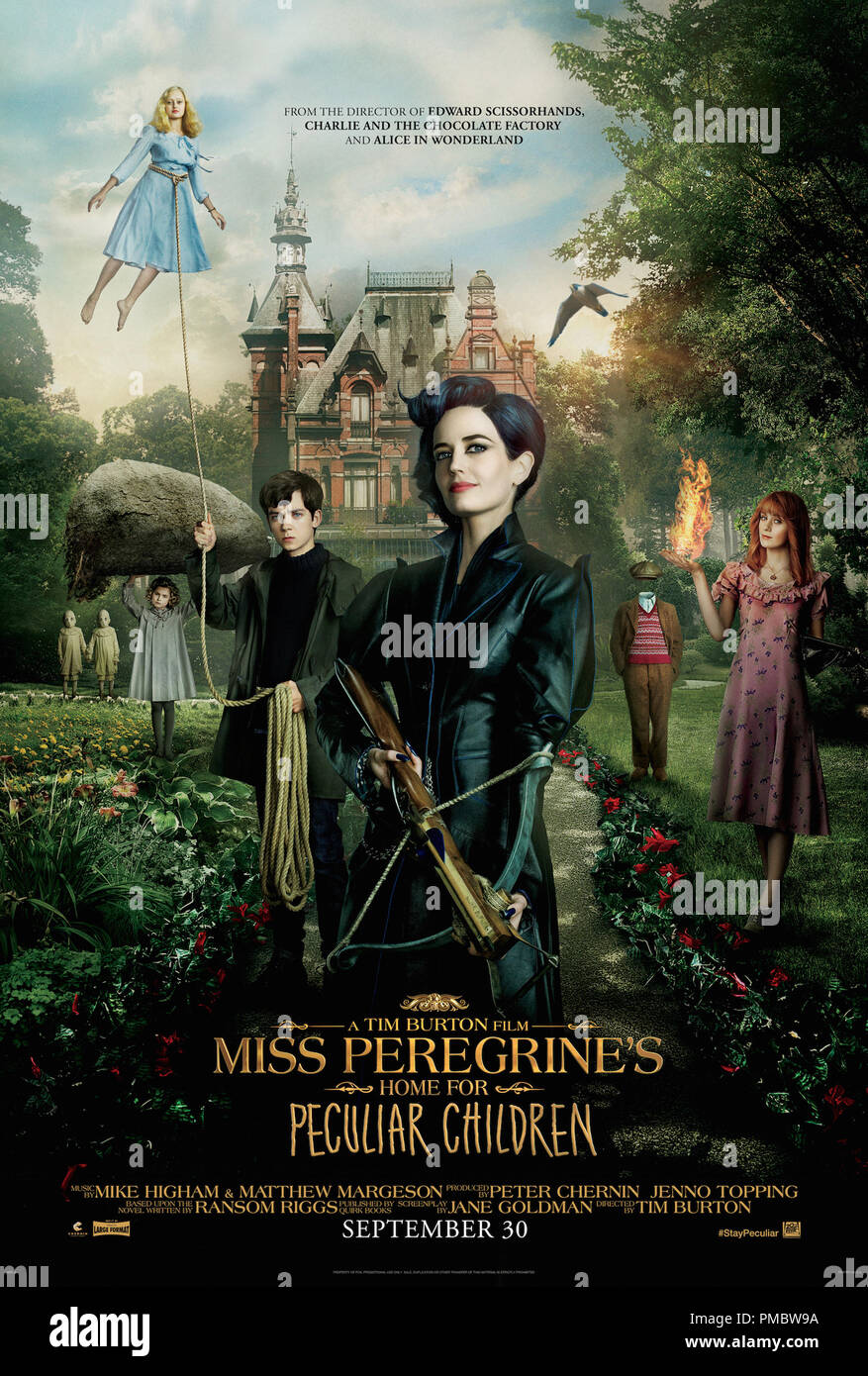 """Miss Peregrine's Home para niños peculiares' (2016) Póster Imagen De Stock"