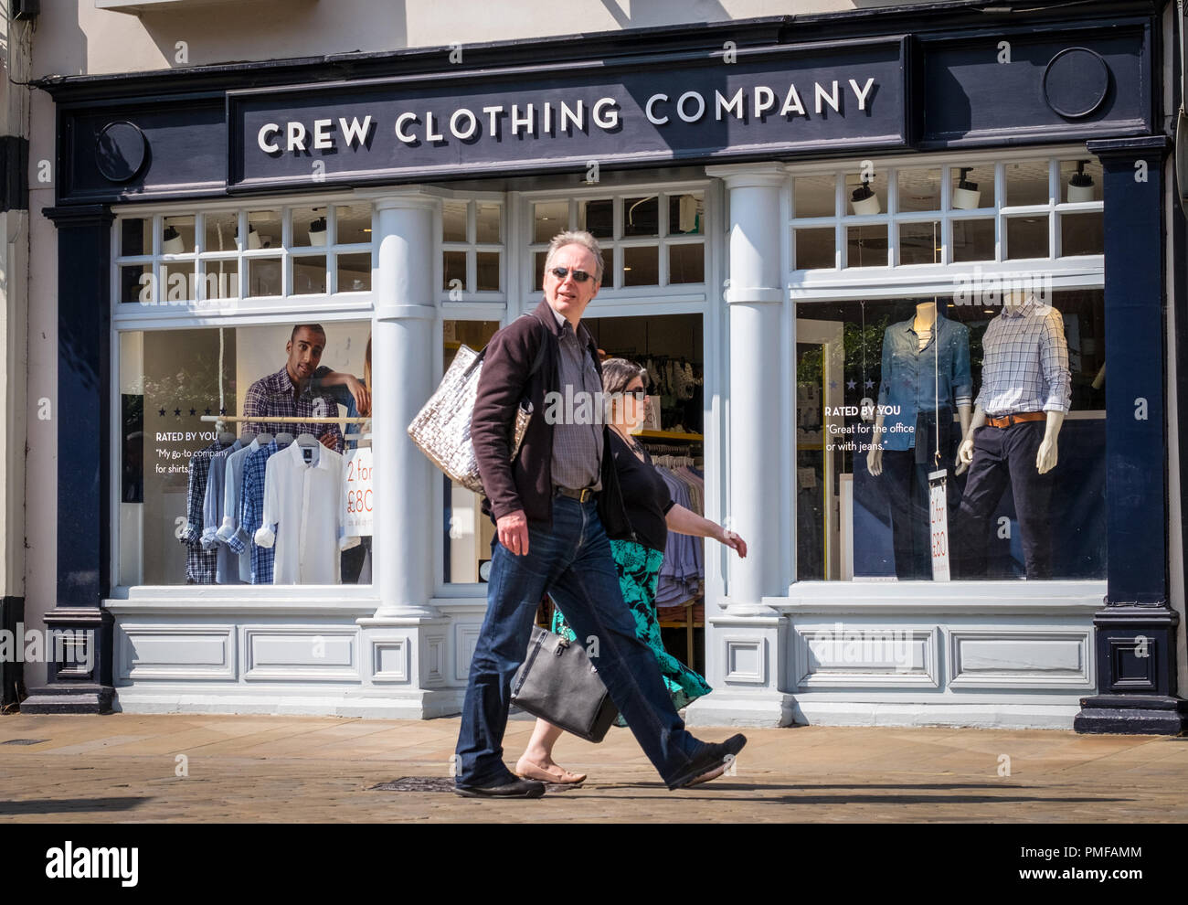 Tripulación Clothing Company store en Winchester, Hampshire, Reino Unido Imagen De Stock
