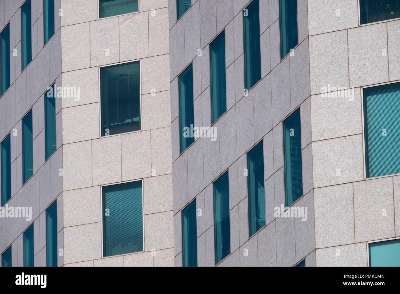 Detalle de la arquitectura en la Wells Fargo bloque de oficinas, Birmingham, Alabama Imagen De Stock