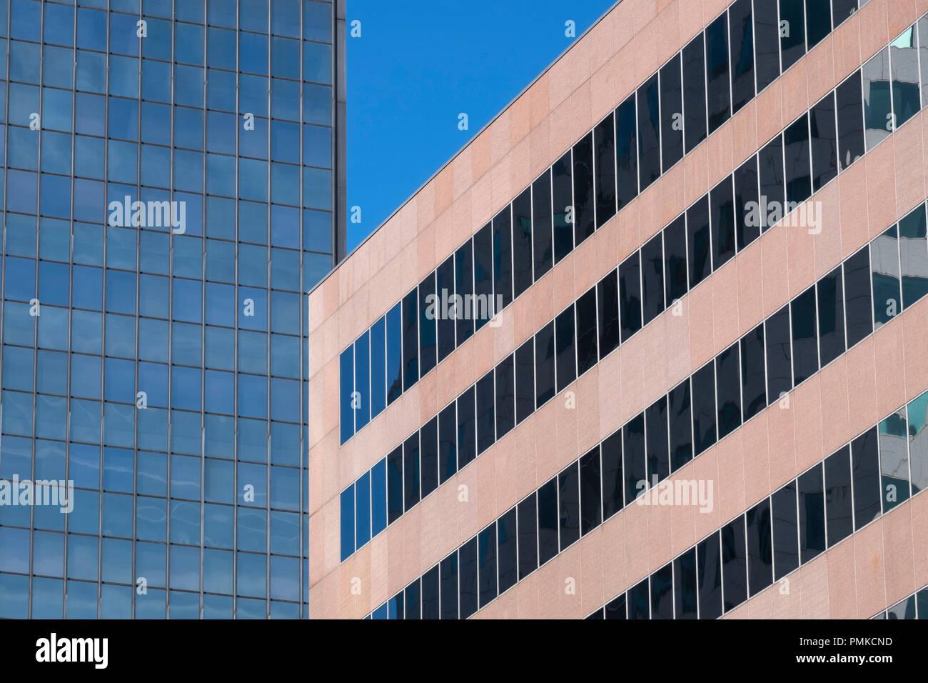 Detalle de la arquitectura en el bloque de oficinas, Birmingham, Alabama Imagen De Stock