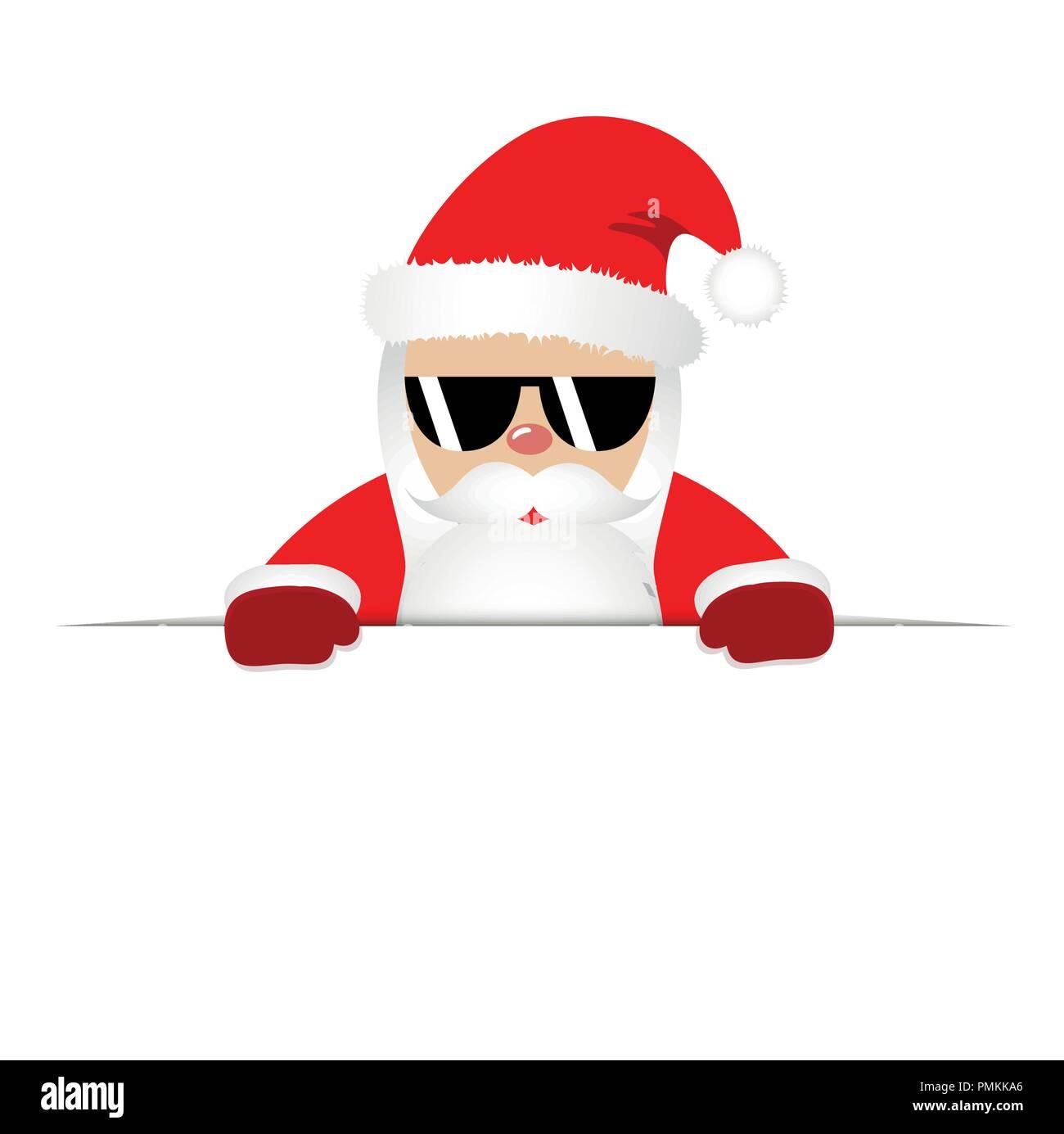 Santa Feliz Hipster Barba Sol Con Claus El Fresco Y Gafas De 7gYbfy6