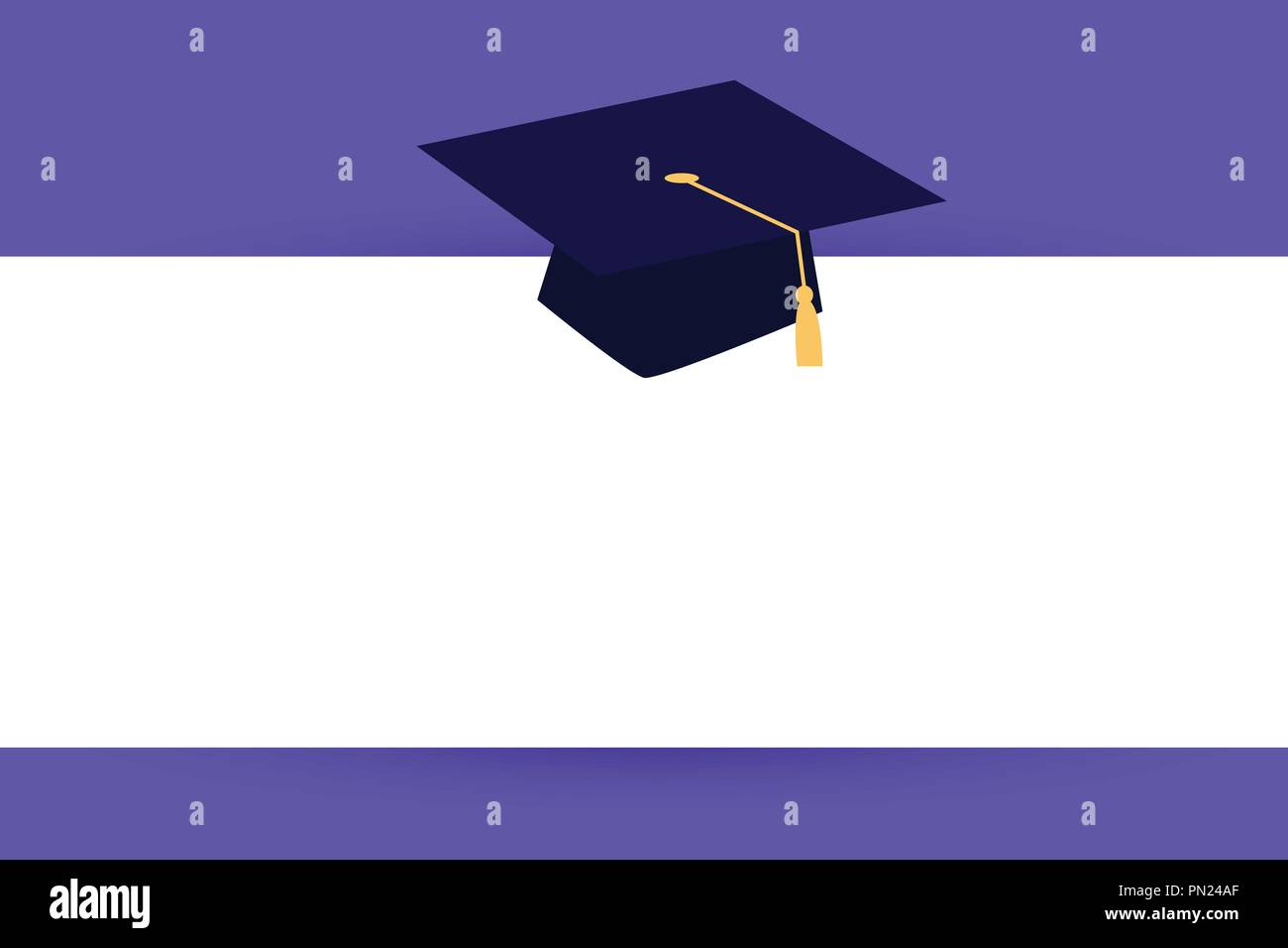 Diseño plano business Ilustración Vector concepto plantilla copiar texto de  espacio para Ad website esp 3D isométrico aislados. Sombrero de graduación  con ... 9fa584cee70
