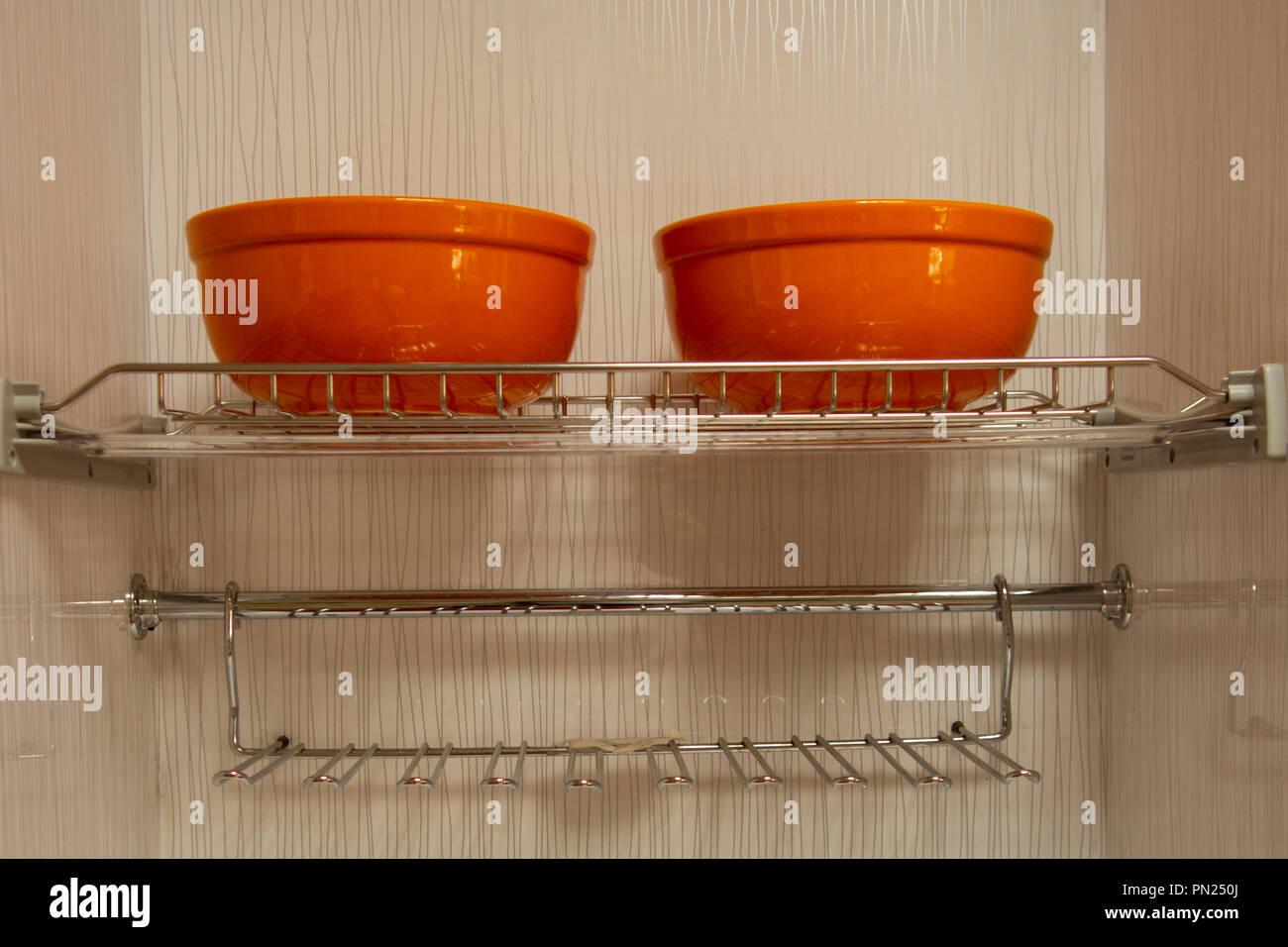 Interior De Una Casa Cocina Armarios Y Módulos Integrados