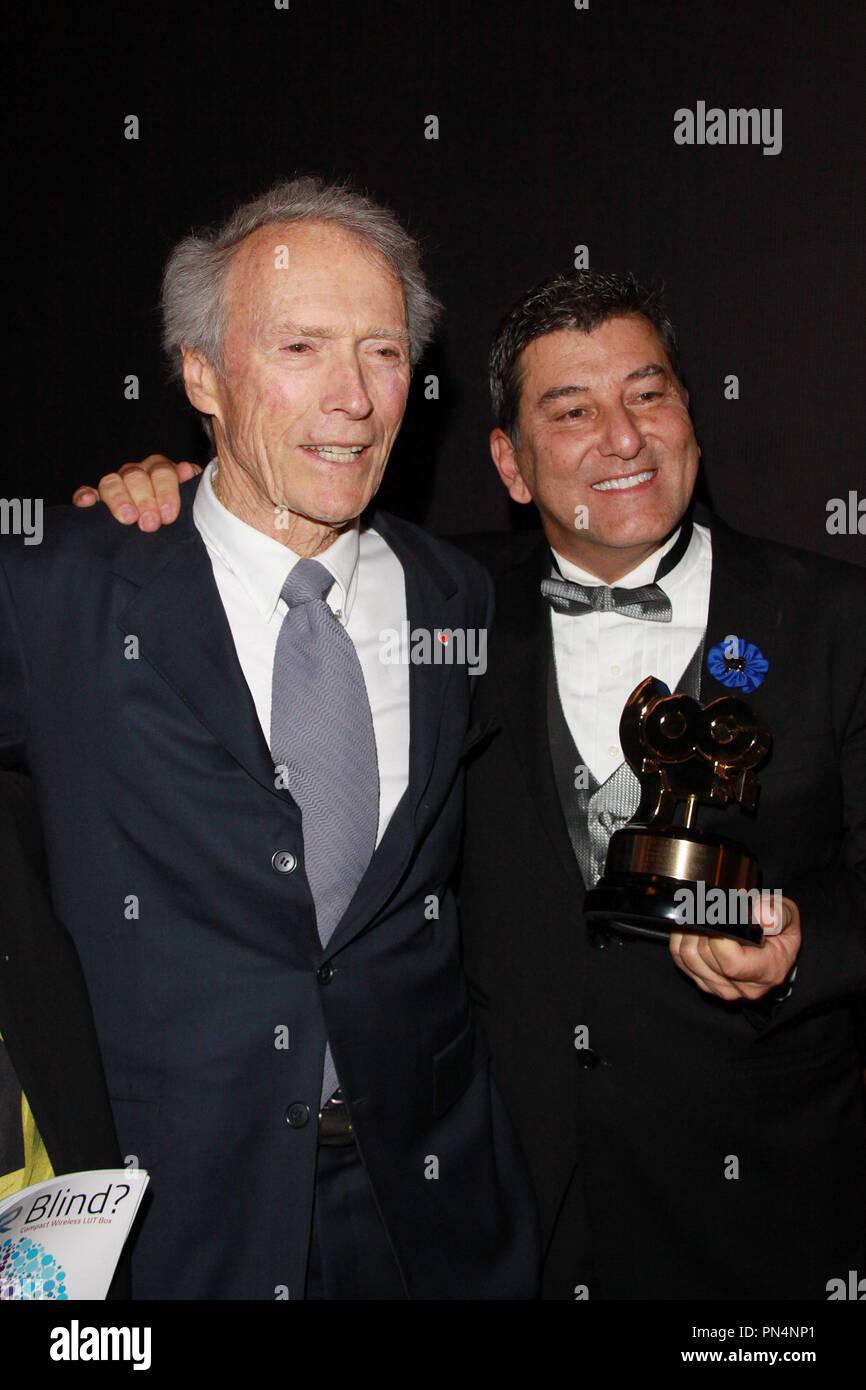 Clint Eastwood, Stephen Campanelli 02/06/2016 2016 la Sociedad de los operadores de cámara Lifetime Achievement Awards celebrado en el teatro Paramount en Hollywood, CA Foto por Kazuki Hirata / HNW / PictureLux Imagen De Stock