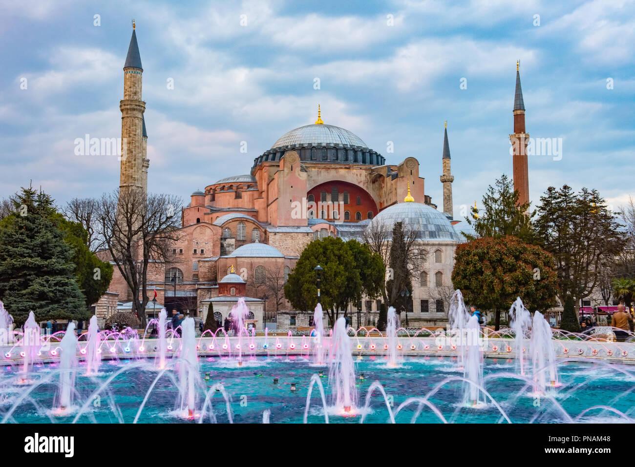 Hagia Sophia en Estambul Imagen De Stock
