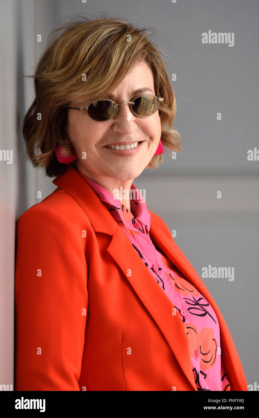 San Sebastián, España. El 21 de septiembre de 2018. Mercedes Moran durante una sesión de fotos exclusivas en la 66ª San Sebastian International Filmfestival en el Maria Cristina Hotel el 21 de septiembre de 2018, en San Sebastián, España. Foto de stock
