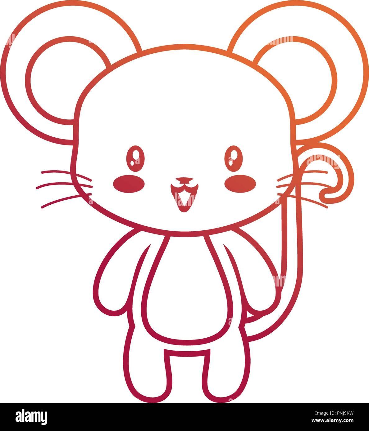 Ratón Lindo Bebé Animal Caricatura Dibujo Ilustración