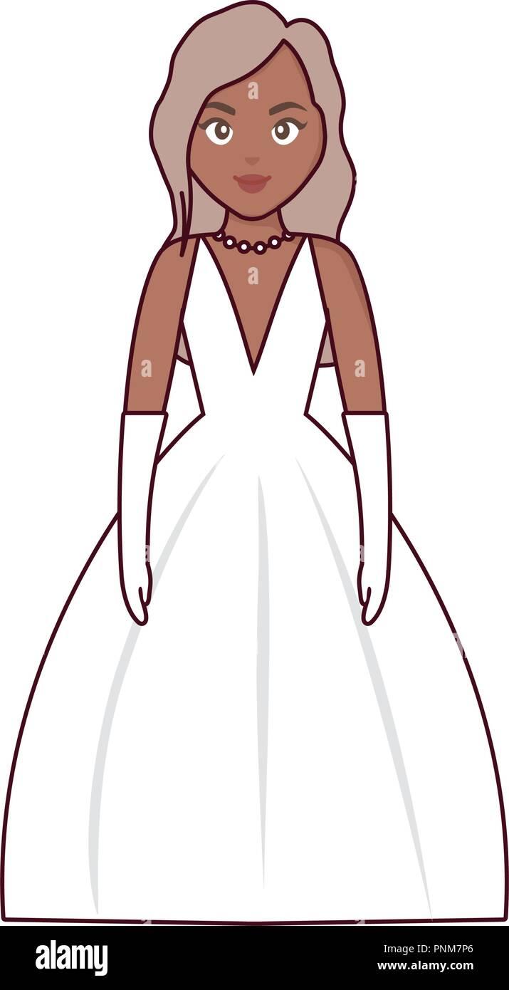 Vestidos de novia en dibujos