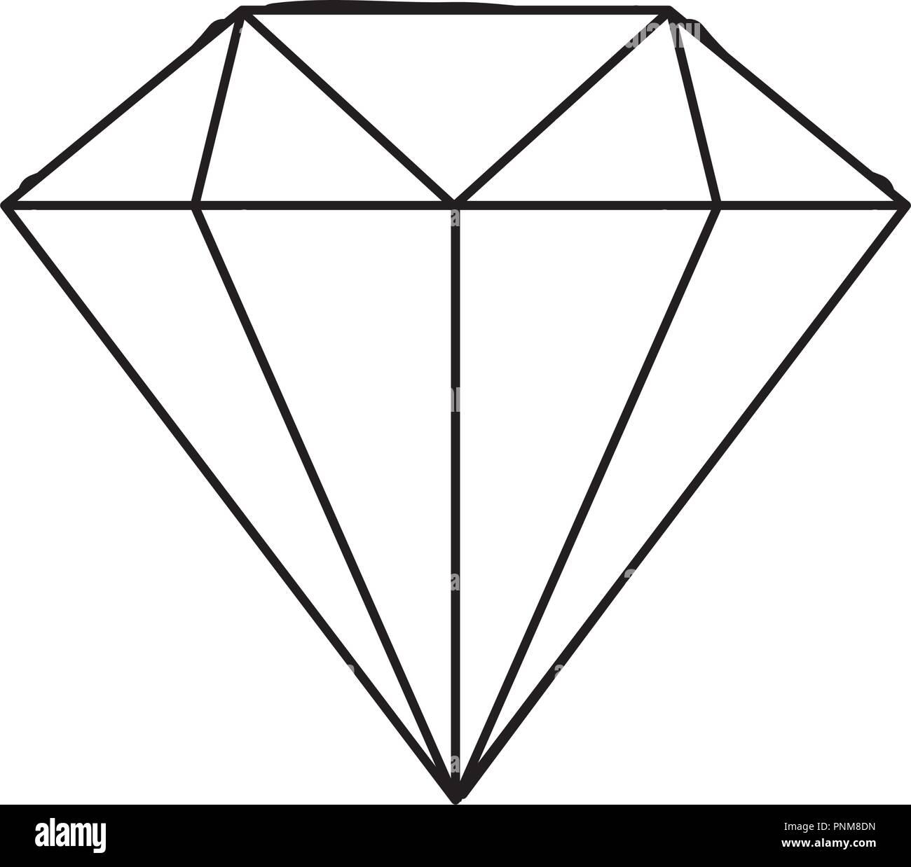 ceae9a674935 Diamante joyería de lujo caro icono ilustración vectorial línea delgada  Imagen De Stock