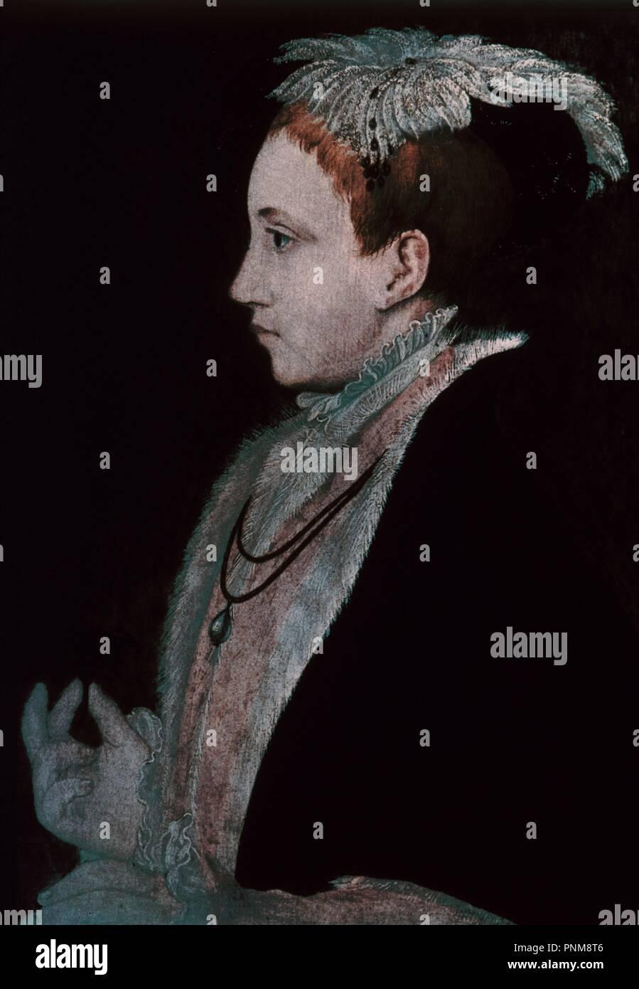 EDUARDO VI DE INGLATERRA (1537/53), REY DE INGLATERRA Y DE IRLANDA - FAVORECIO LA REFORMA. Ubicación: Galería Nacional. Londres. Inglaterra. Foto de stock