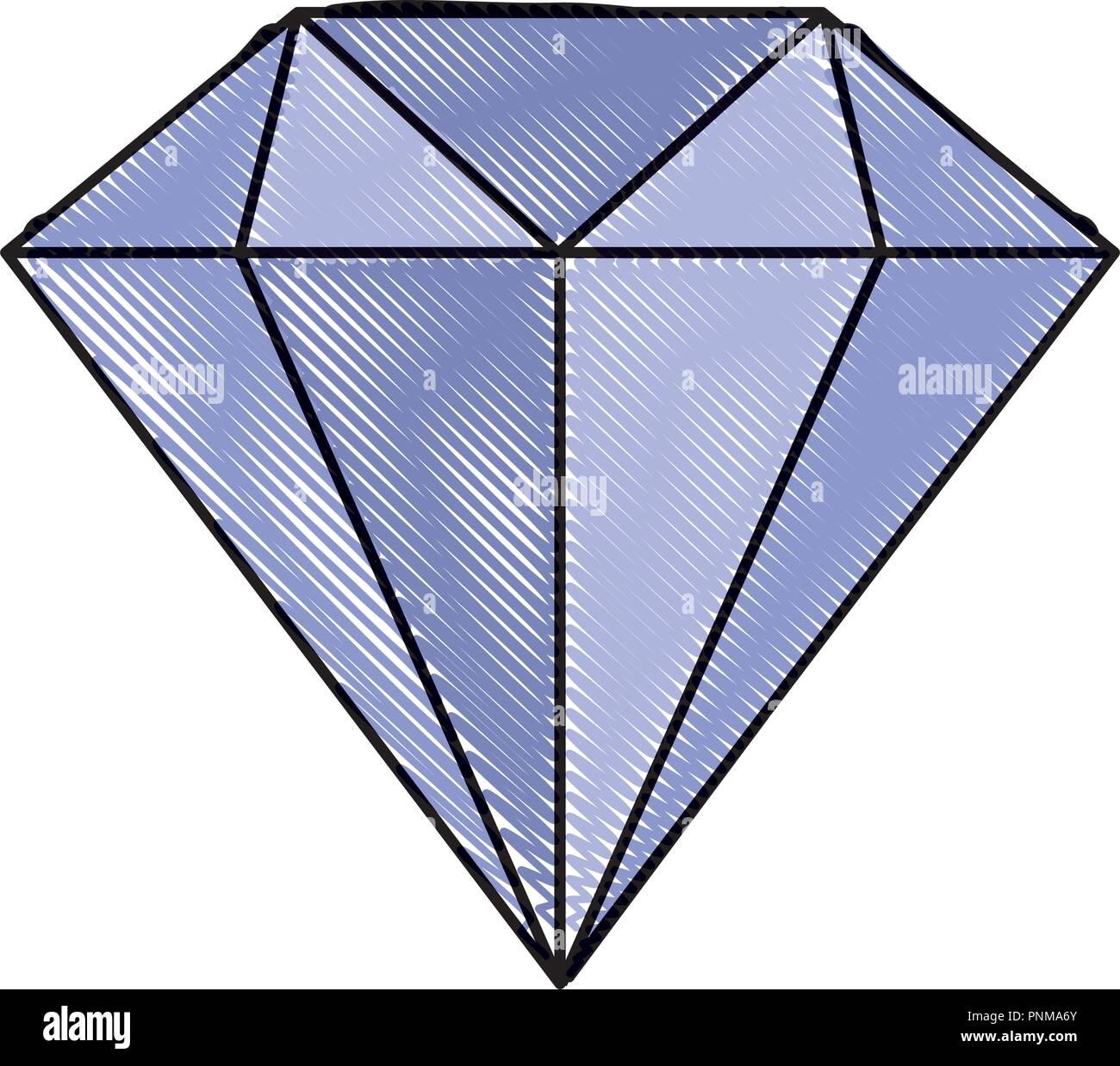86339b158cd9 Diamante joyería de lujo caro icono ilustración vectorial Imagen De Stock