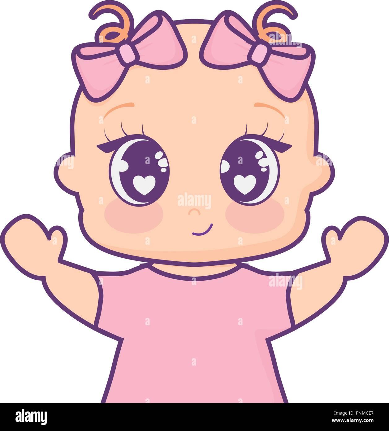 Cartoon Girl Child Avatar Imágenes De Stock Cartoon Girl Child