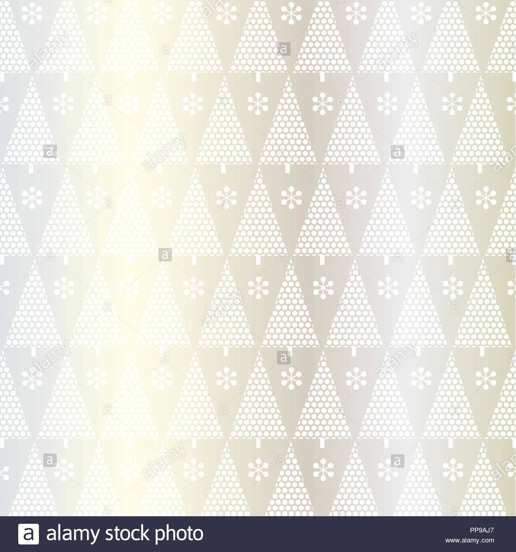 Punto blanco plata en patrón de árbol de navidad Ilustración del ...