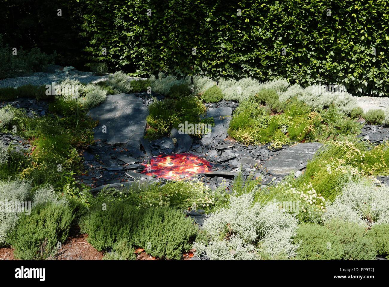 Festival Internacional de jardines, el dominio de Chaumont-sur-Loire, Centro de arte y naturaleza, valle del Loira, ONU Promenoir Infini, Loir-et-Cher, Touraine, p. Foto de stock