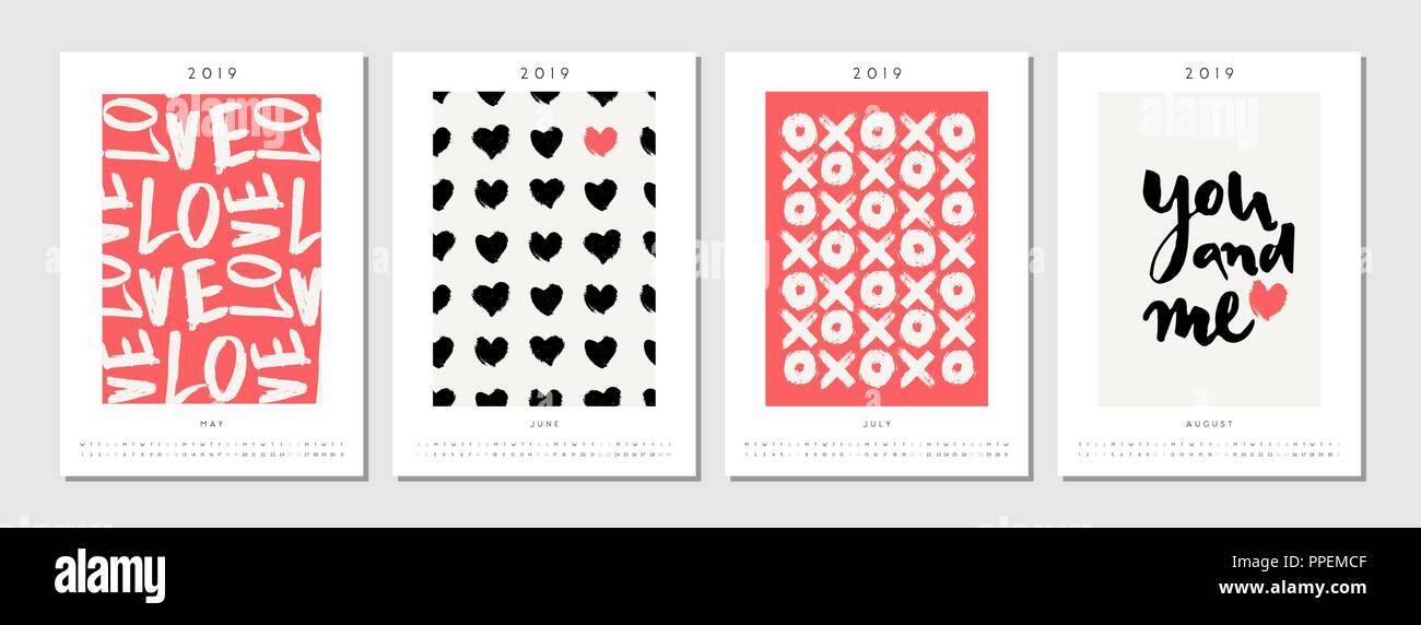 Calendario De Agosto 2019 Para Imprimir.Cuatro De Tamano A4 Para Imprimir 2019 Plantillas De