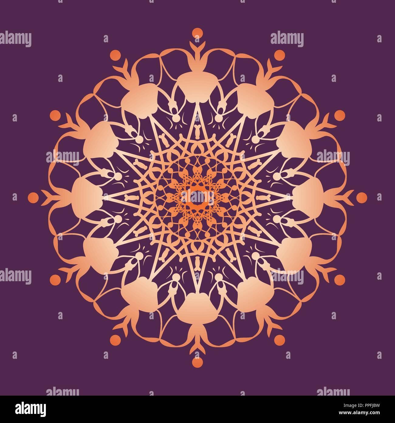 dcbcb122e Mandala patrón. Símbolo decorativo redondo floral. Vintage elementos ...