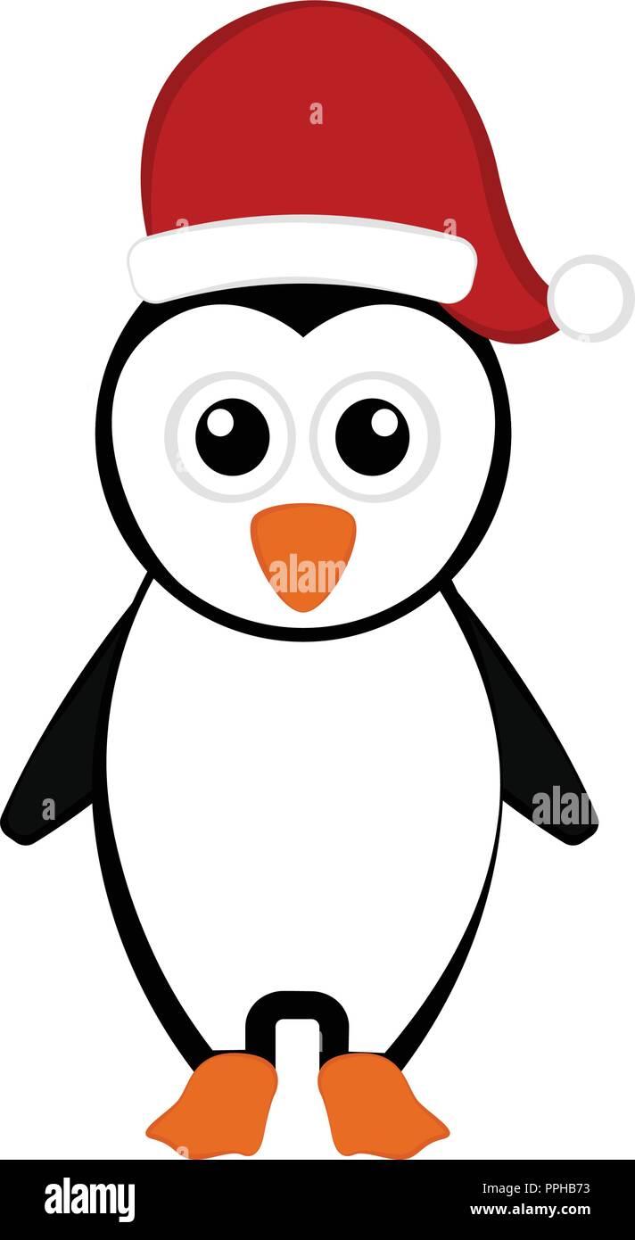 Personaje De Dibujos Animados De Pingüinos De Navidad Ilustración