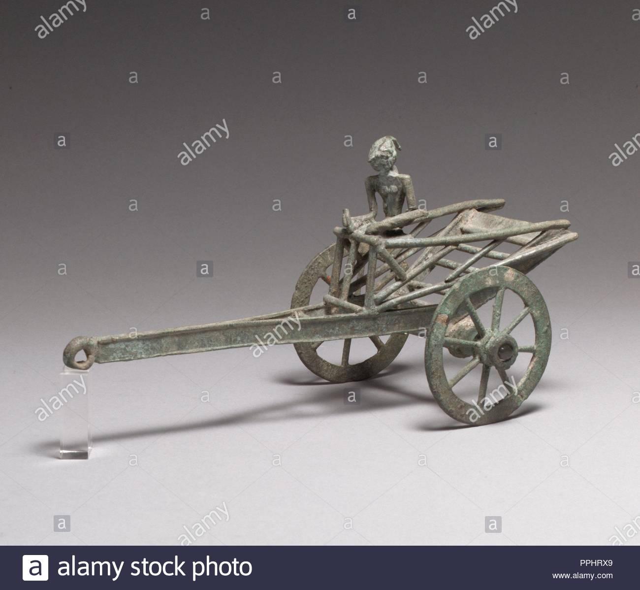Tirar De Un Carro De Juguete Y Conductor Majapahit Periodo 1296