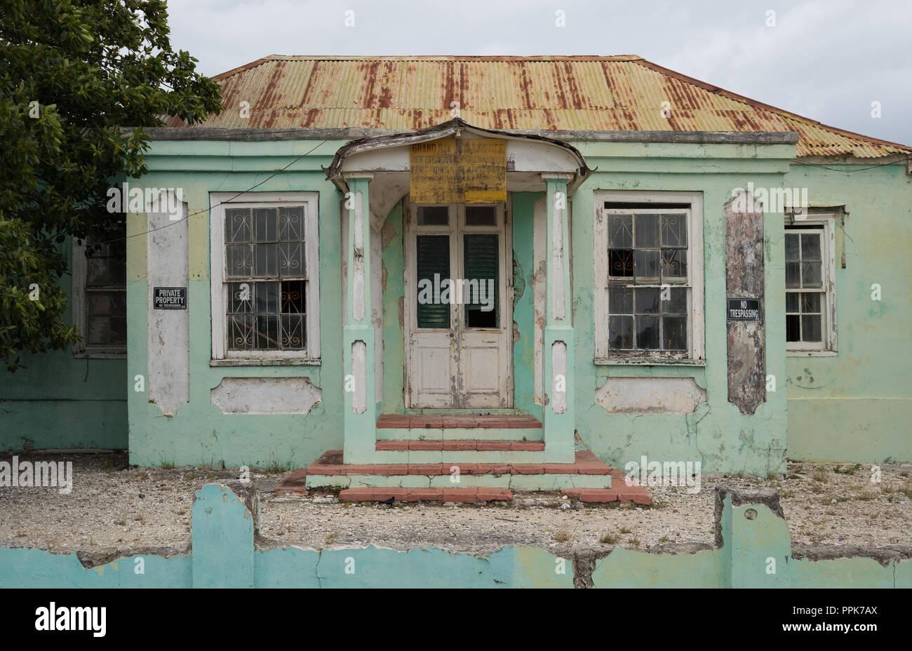 Antiguo edificio, Calle de la Bahía, Bridgetown, Barbados Foto de stock
