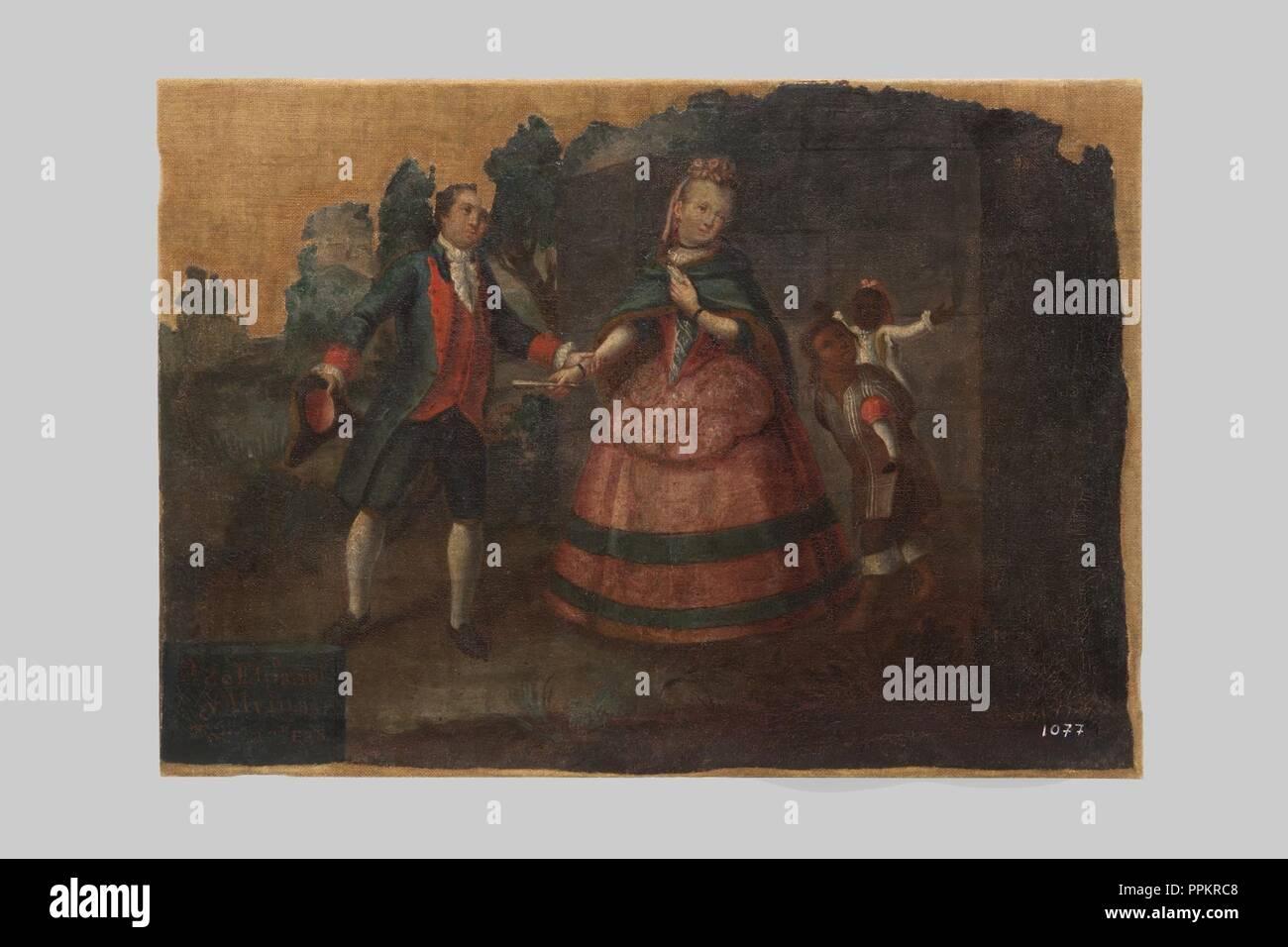 Anònim - '9 de Español y Alvina, Torna atrás' - 1077. Imagen De Stock