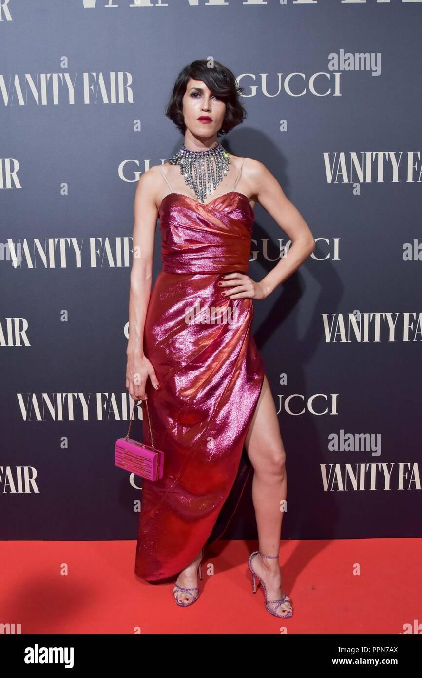 Invitada al evento Vanity Fair Personalidad del Año Premios 2018 en Madrid el miércoles 26 de septiembre de 2018. Imagen De Stock