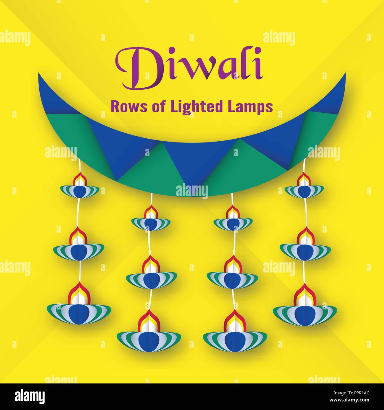 Tarjeta De Invitación Para El Festival De Diwali De Hindú