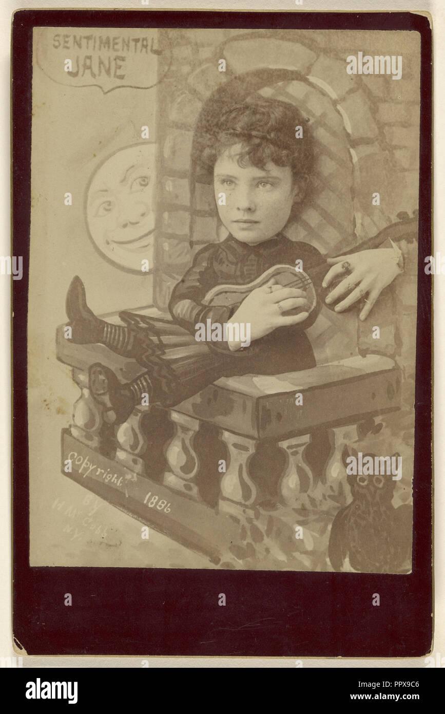 John Henry McCobb sentimental; activo, americana, Nueva York, Nueva York, 1880, 1886; Albúmina imprimir plata Foto de stock