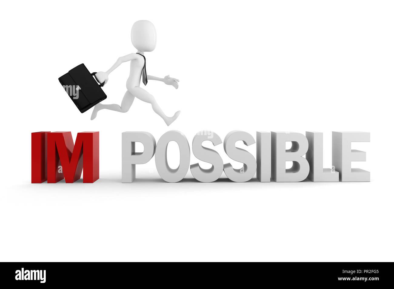 3d Hombre empresario con actitud positiv Imagen De Stock
