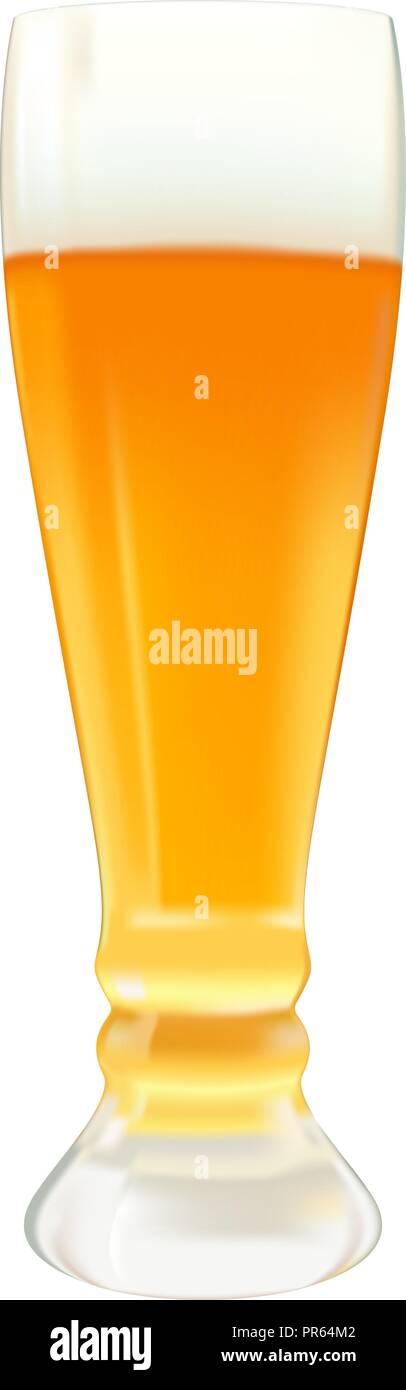Vaso de cerveza. Ilustración 3d vectoriales Imagen De Stock