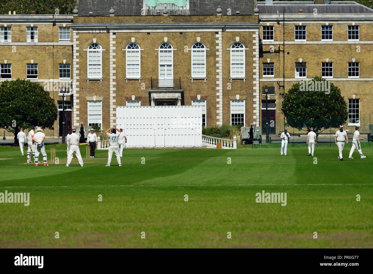 El cricket en la Honorable Compañía de artillería, de la ciudad de Londres, Londres, Reino Unido E1 Imagen De Stock