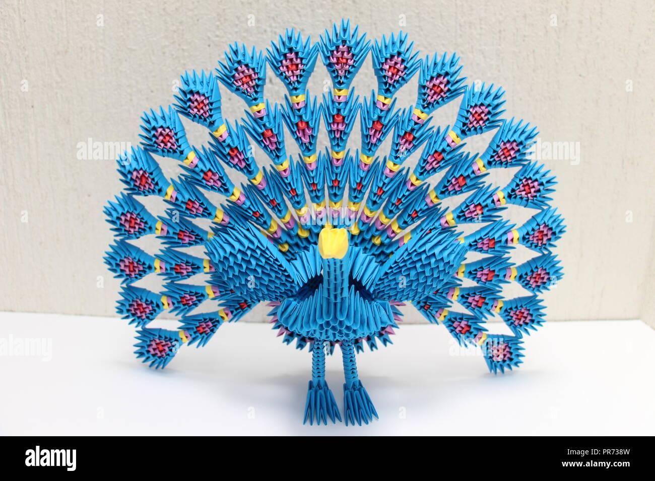 Belleza Origami Arte 3d Foto de stock