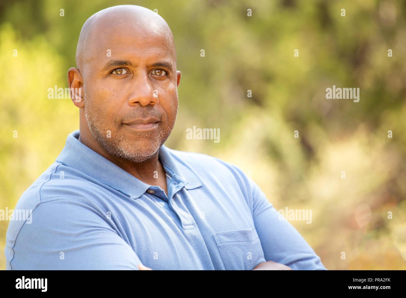 Mature hombre afroamericano. Imagen De Stock