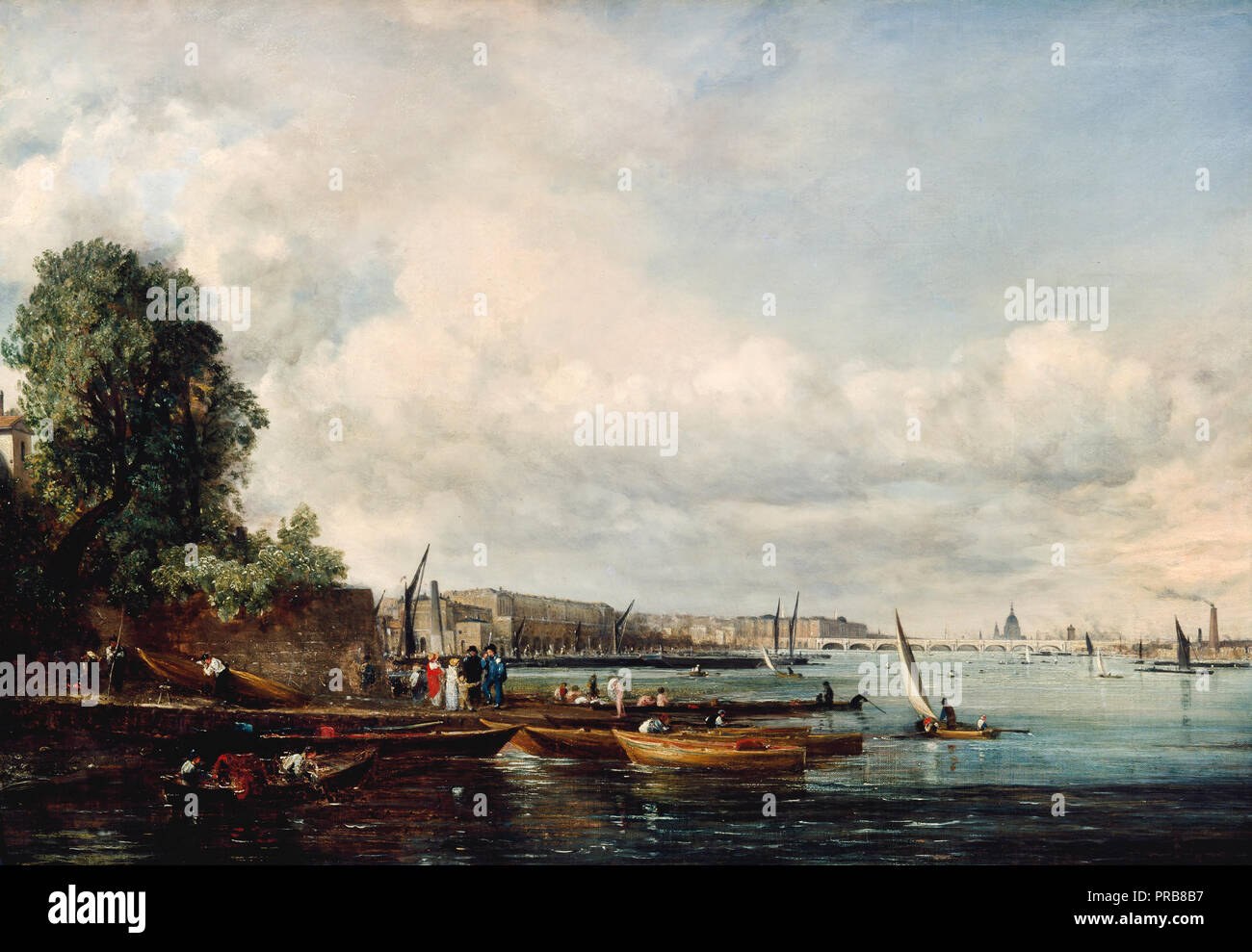 John Constable, Waterloo Bridge, circa 1820 Óleo sobre lienzo, Museo de Arte de Cincinnati, Cincinnati, Ohio, USA. Imagen De Stock