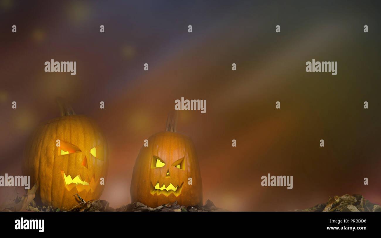 Fondo de Halloween. Los colores oscuros de fantasía terrorífica calabaza scary textura Foto de stock