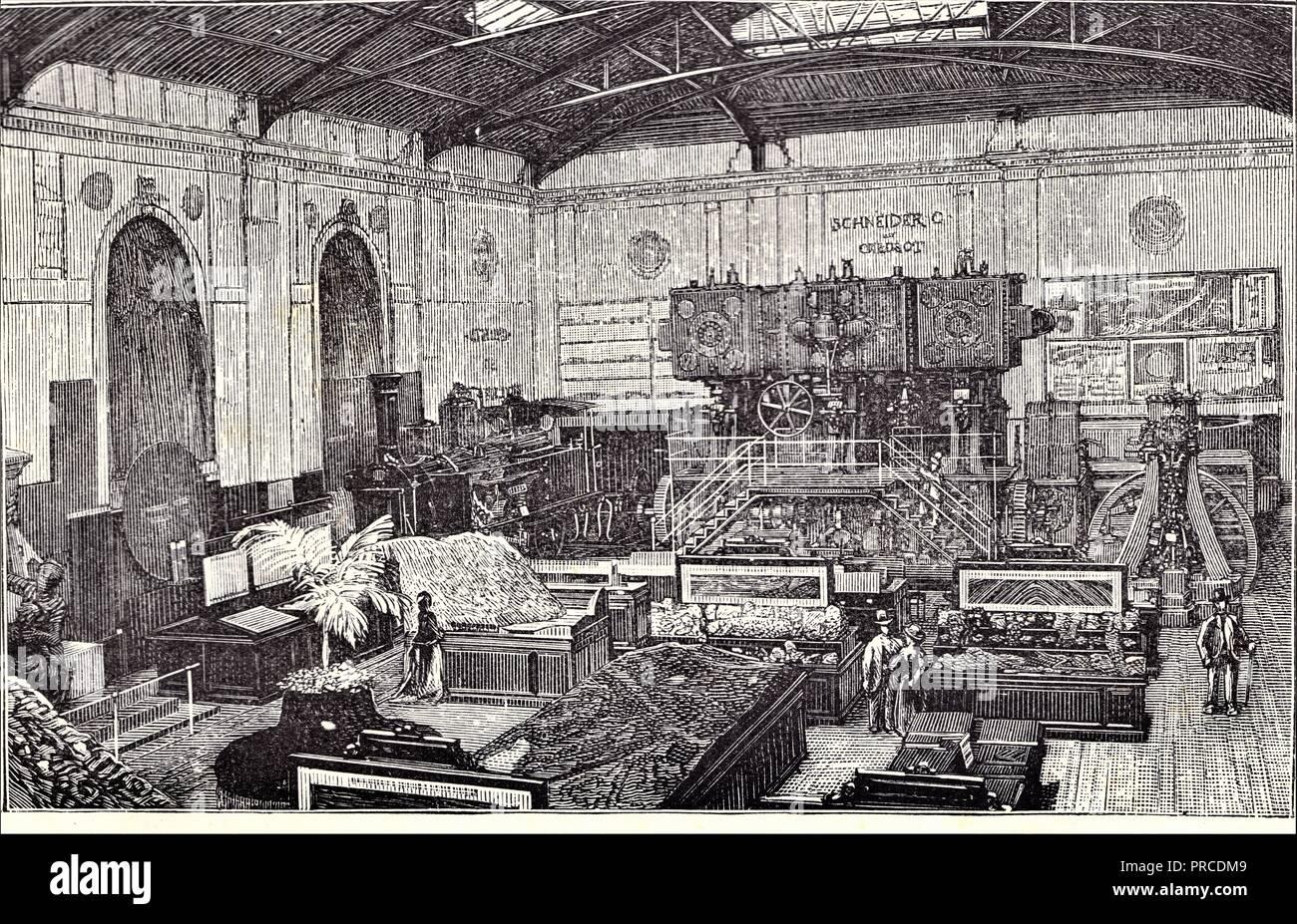 Intérieur du Pavillon du Creusot.Côté droit. Foto de stock