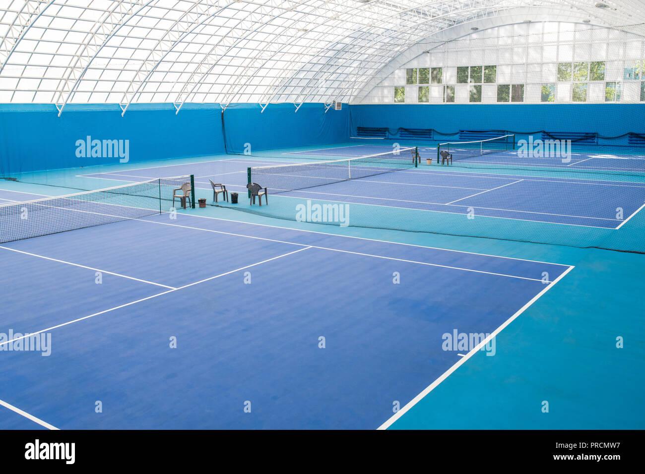 Pista de Tenis azul Imagen De Stock