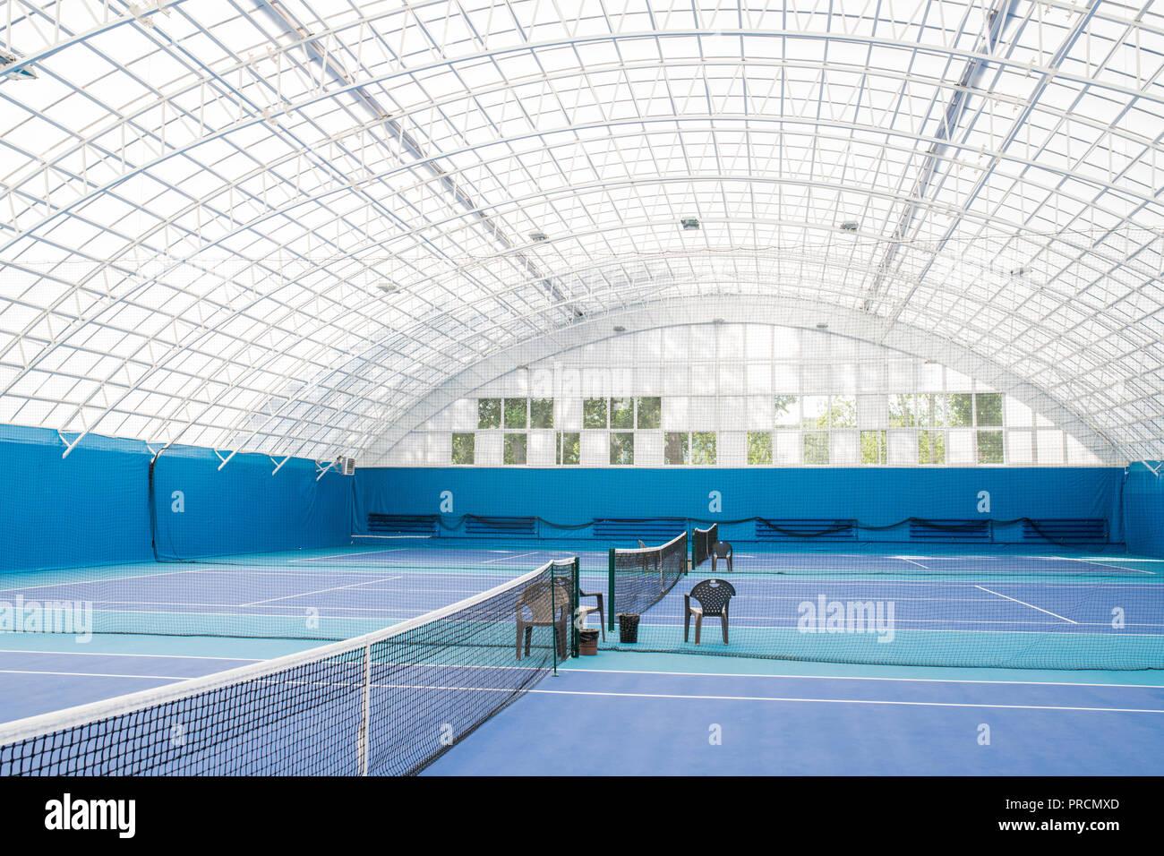 Pista de Tenis Interior Imagen De Stock