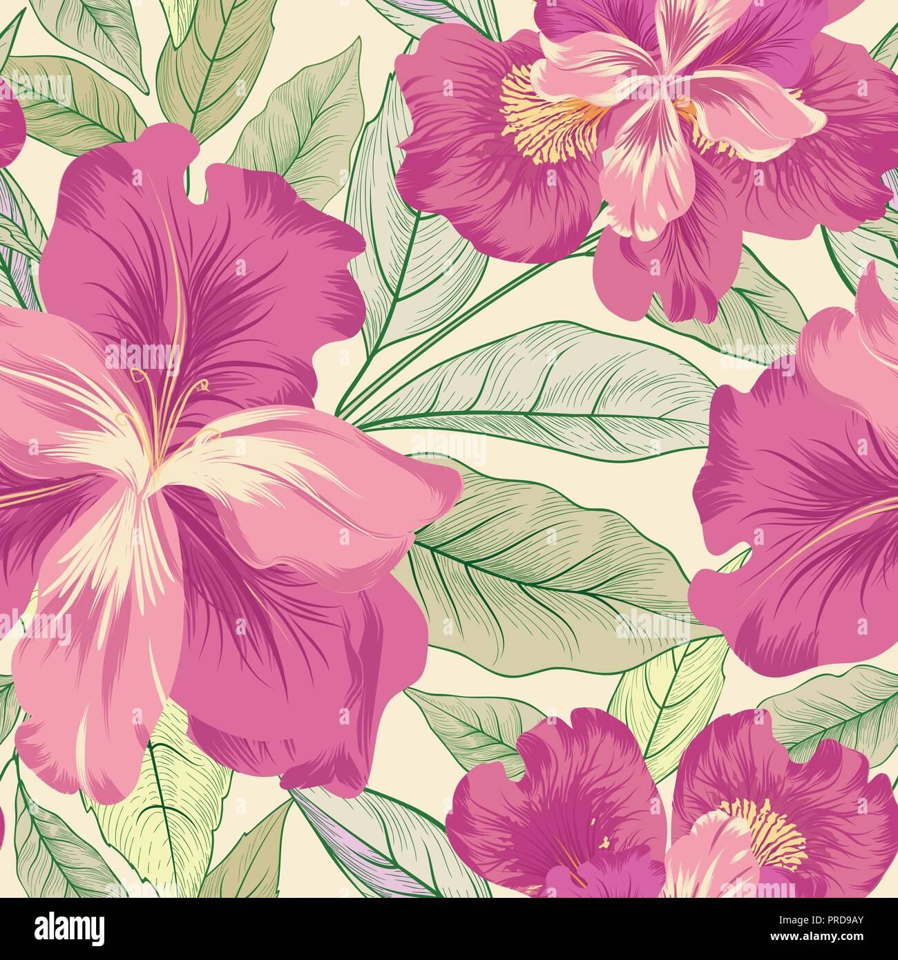 Seamless Patron Floral Iris Flores De Fondo Florecer El Jardin Con