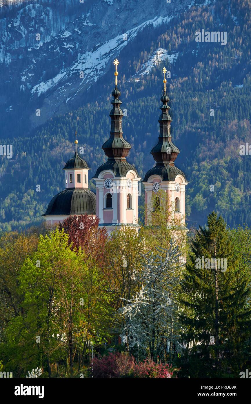 La iglesia de peregrinación de la Santa Cruz, Villach, Austria Imagen De Stock