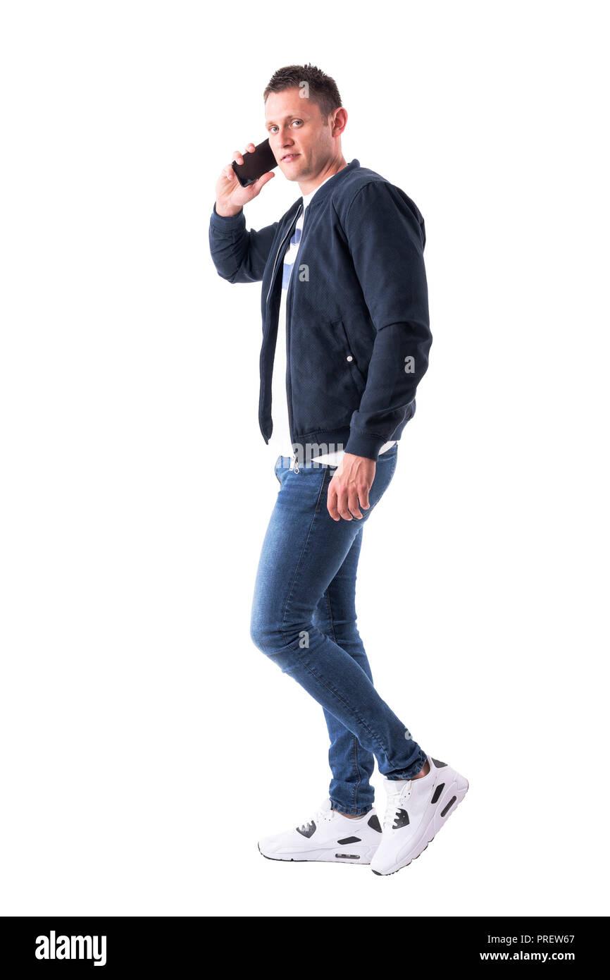 7bfb8b8d5 Man Walking Profile Full Body Imágenes De Stock & Man Walking ...