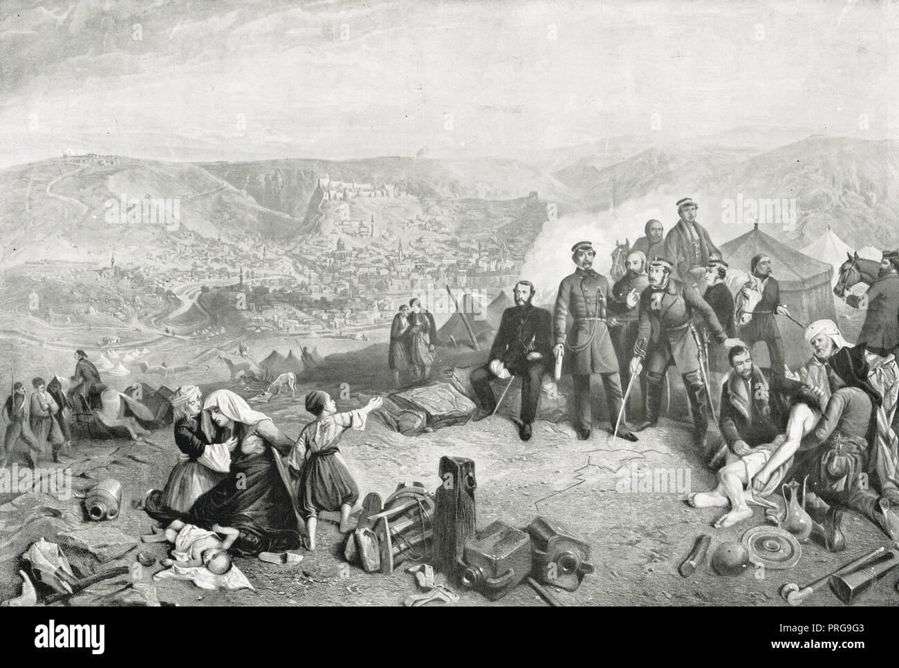 La defensa de Kars, Junio - Noviembre de 1855, durante la guerra de Crimea Foto de stock