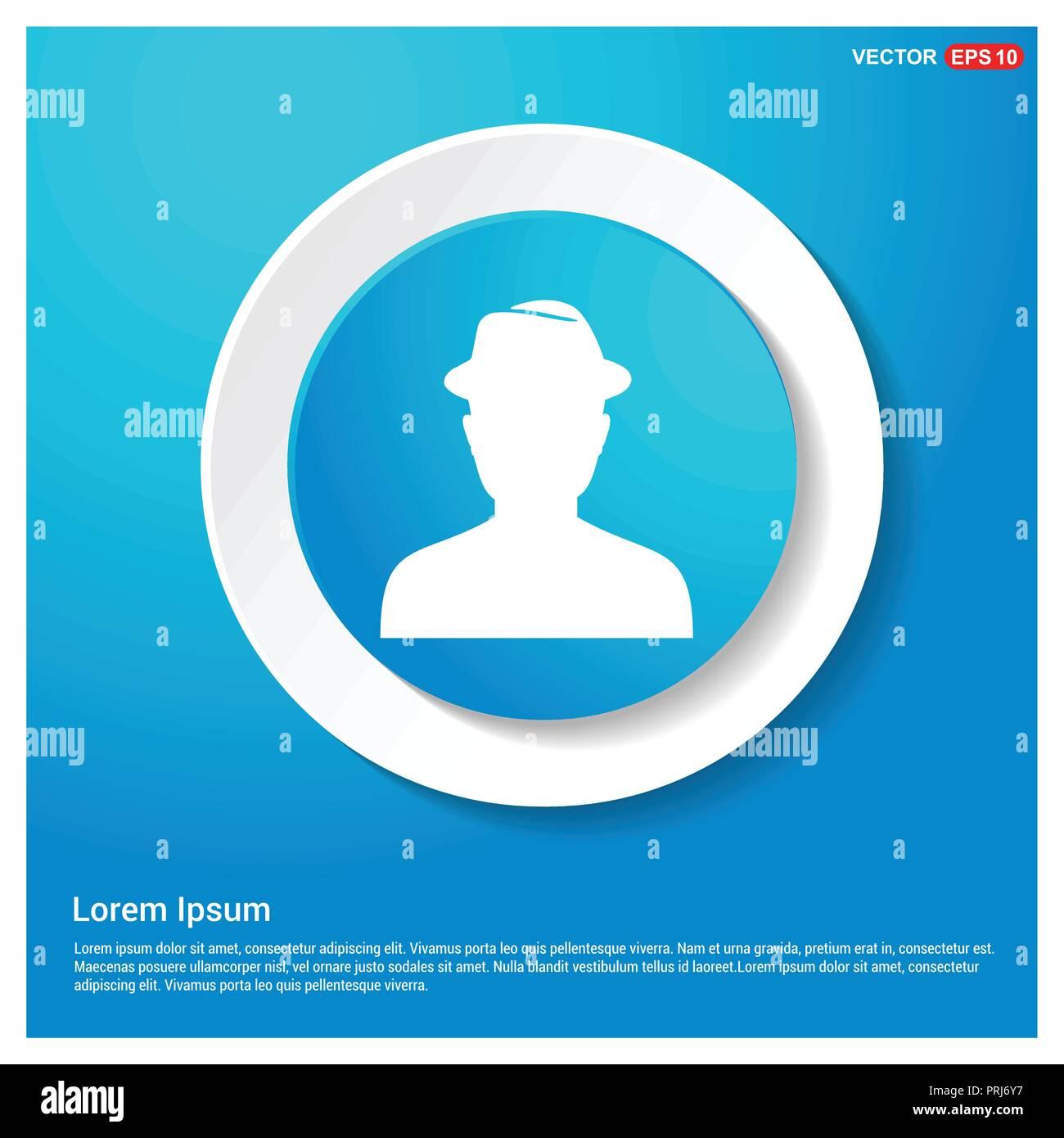 cdf200088 Spy icono usuario abstracto pegatina Web botón azul - icono vectoriales  gratis