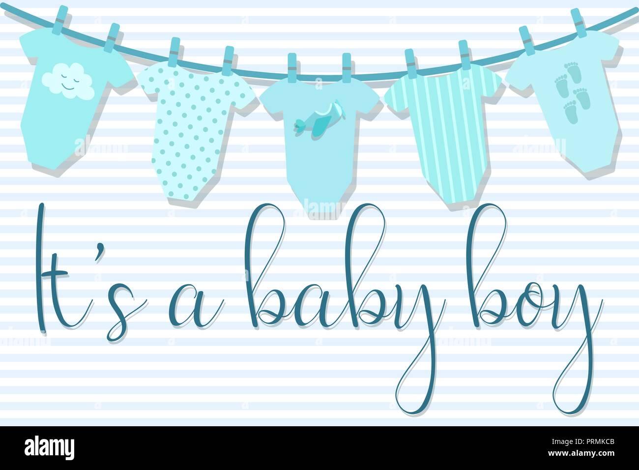 Imagen Vectorial De Una Tarjeta De Invitación Para Baby