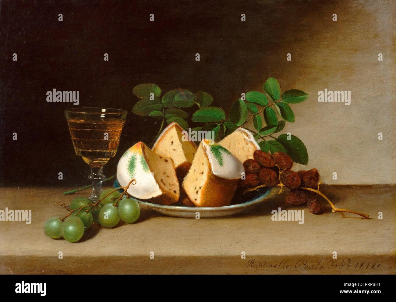 Bodegón con pastel - Raphaelle Peale (1818) Imagen De Stock
