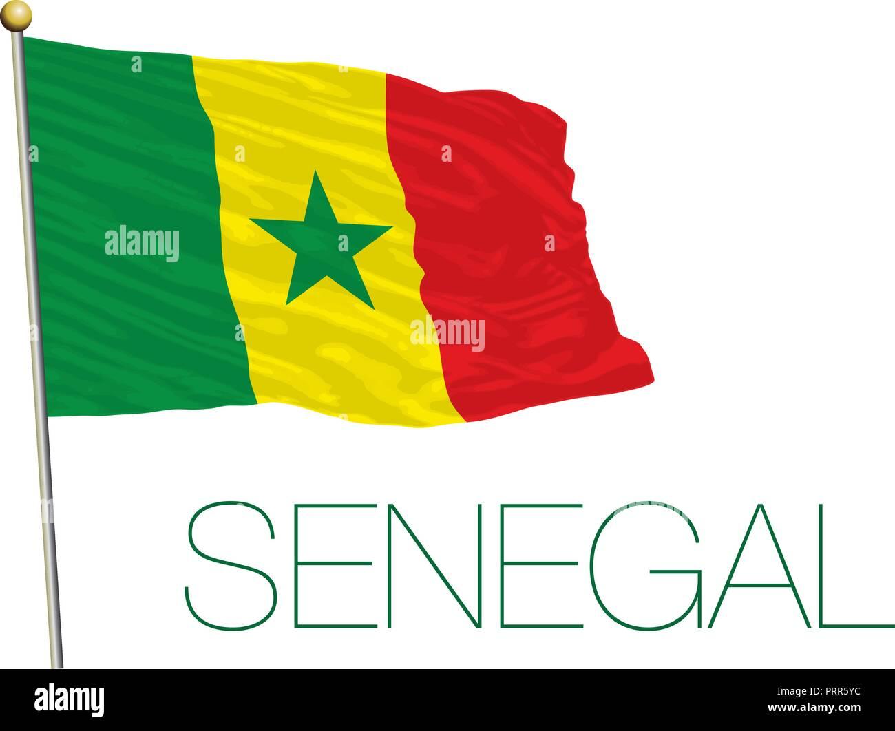 Senegal Bandera Oficial Ilustración Vectorial Ilustración