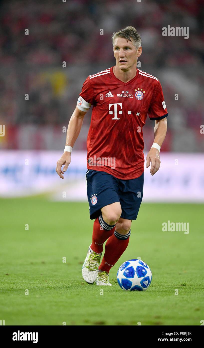 Adiós coincide con Bastian Schweinsteiger, Allianz Arena, Múnich, Baviera, Alemania Imagen De Stock