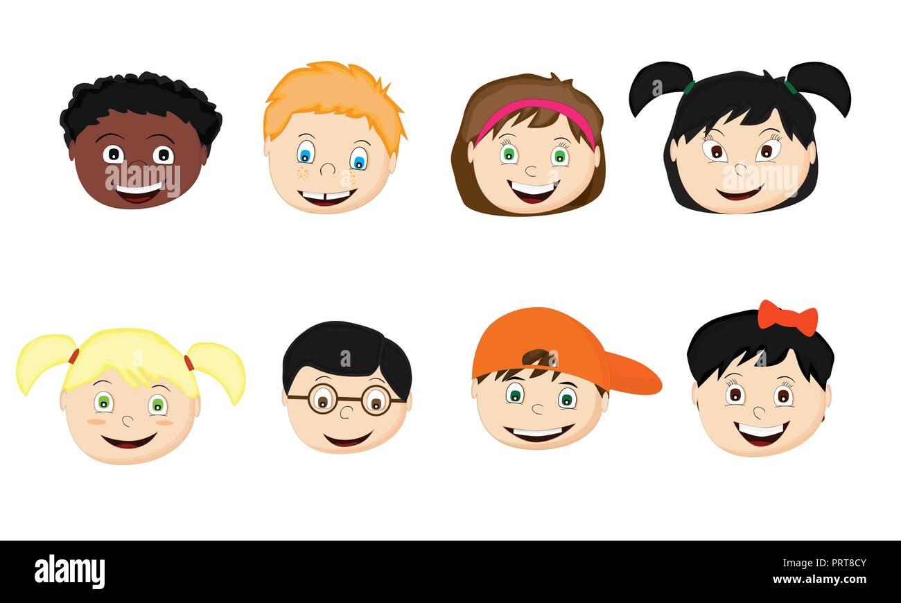 Dibujo De Nacionalidades Para Colorear: Juego De Niños De Diferentes Nacionalidades De Dibujos